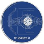 2017 Star Wars: TIE Advanced X1 Niue Niue 1oz Silver Proof