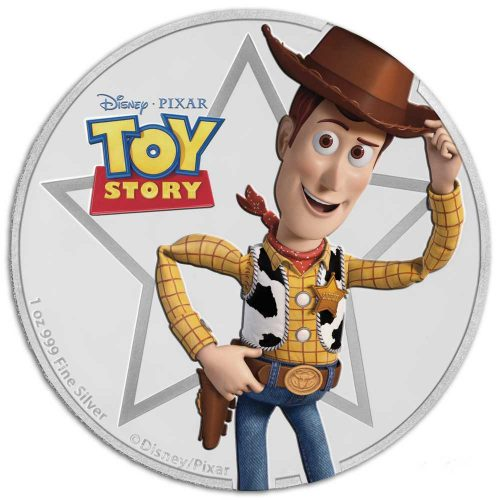 Toy Story Woody 1oz Proof Silver Coin
