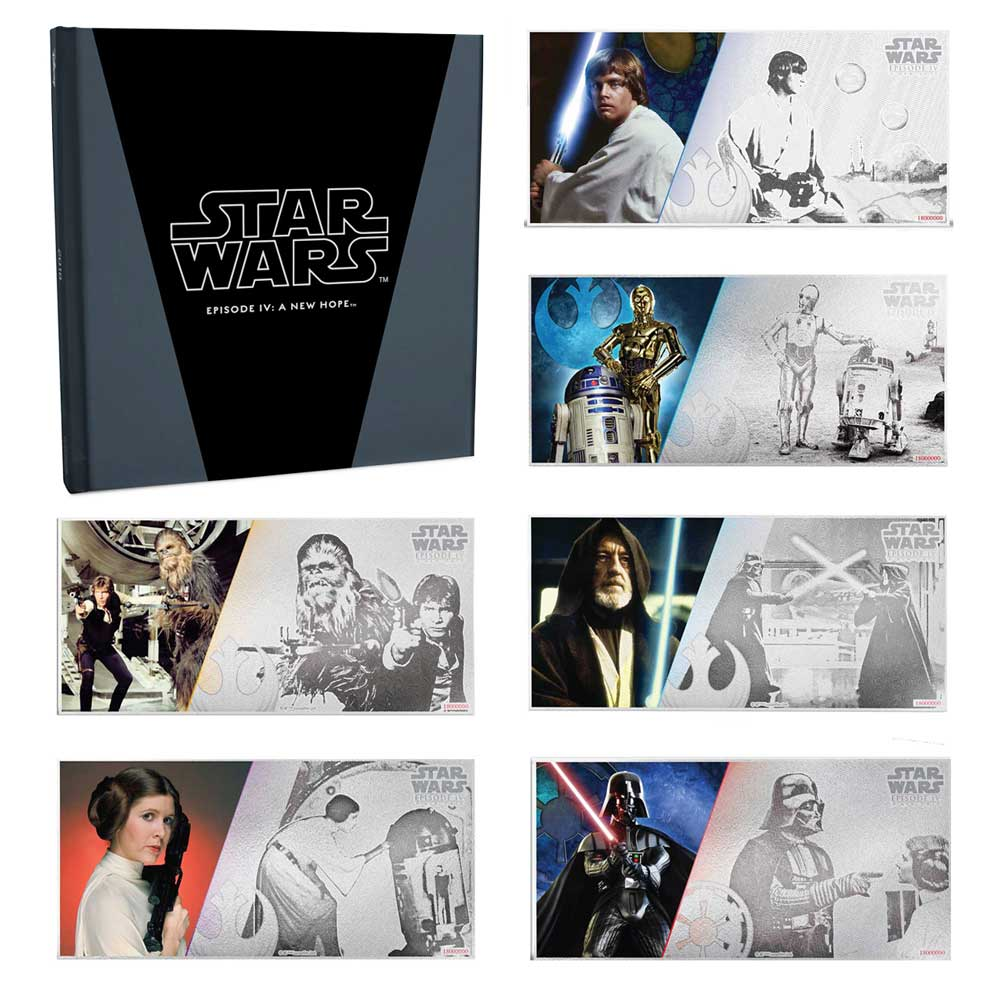 STAR WARS: A NEW HOPE 2018 2018 Niue 5g silver note Set