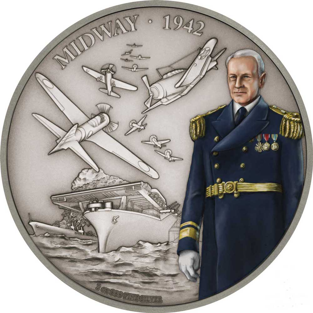 Battles That Changed History: Midway 2018 Niue 1oz Silver
