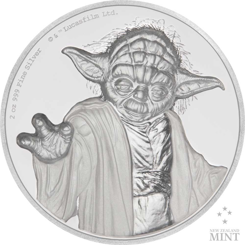 Star Wars Yoda 2018 Niue High Relief 2oz Silver