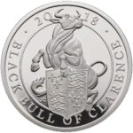 The Queen's Beasts - The Black Bull of Clarence 2018 UK 1oz Silver Proof Coin