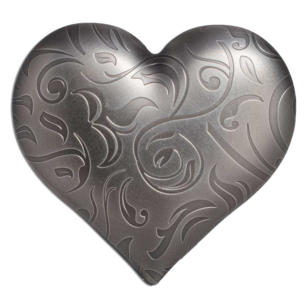 CIT 2018 Silver Heart 1oz Antiqued Silver High Relief Coin