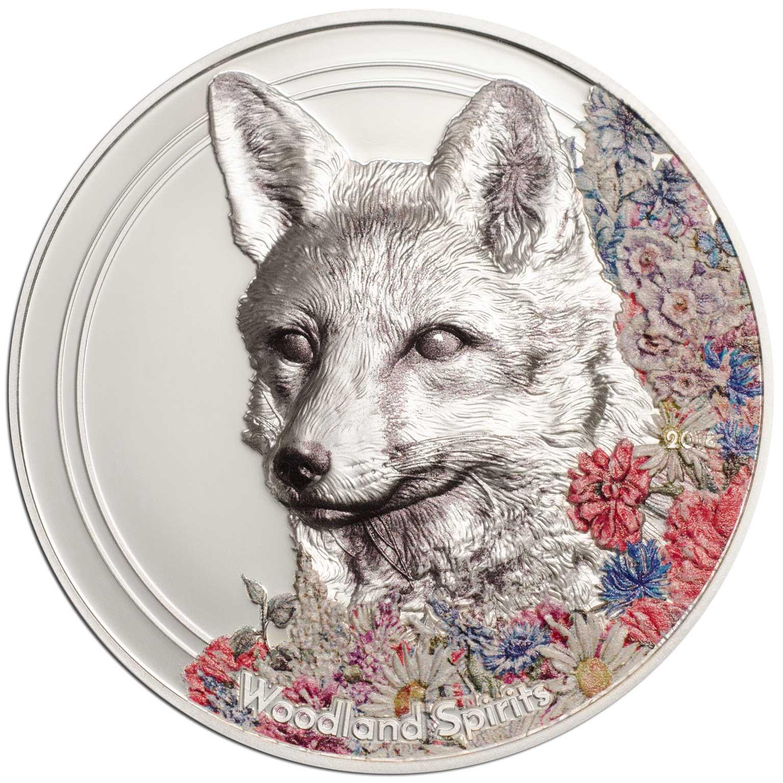 Woodland Spirits - Fox 2018 1oz Silver