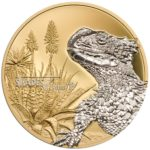 CIT 2017 Shades of Nature: Sungazer Lizard 25g Gilded Silver Coin