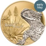 CIT 2018 Shades of Nature: Sungazer Lizard 25g Gilded Silver Coin