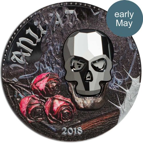 CIT 2018 Crystal Skull - Vanidad Silver High Relief Coin