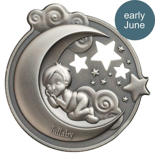 CIT 2018 Lullaby - Dreaming Boy 1oz Silver High Relief Coin