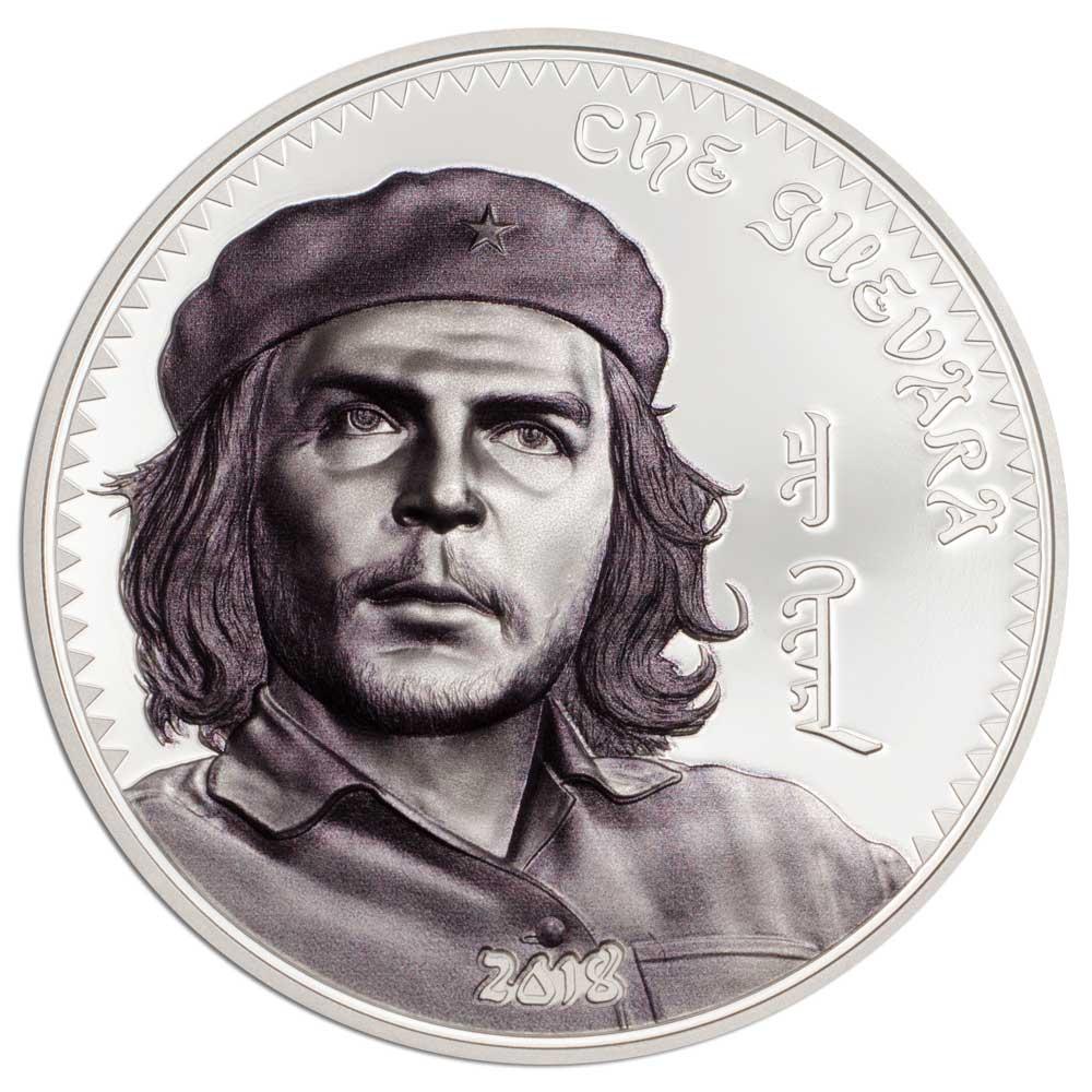 CIT 2018 Che Guevara 1oz Antiqued Silver High Relief Coin