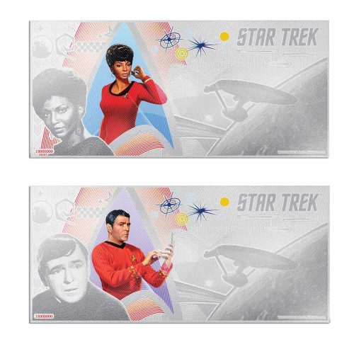 2018 Star Trek Original Series: Scotty & Uhura 5g Silver Notes
