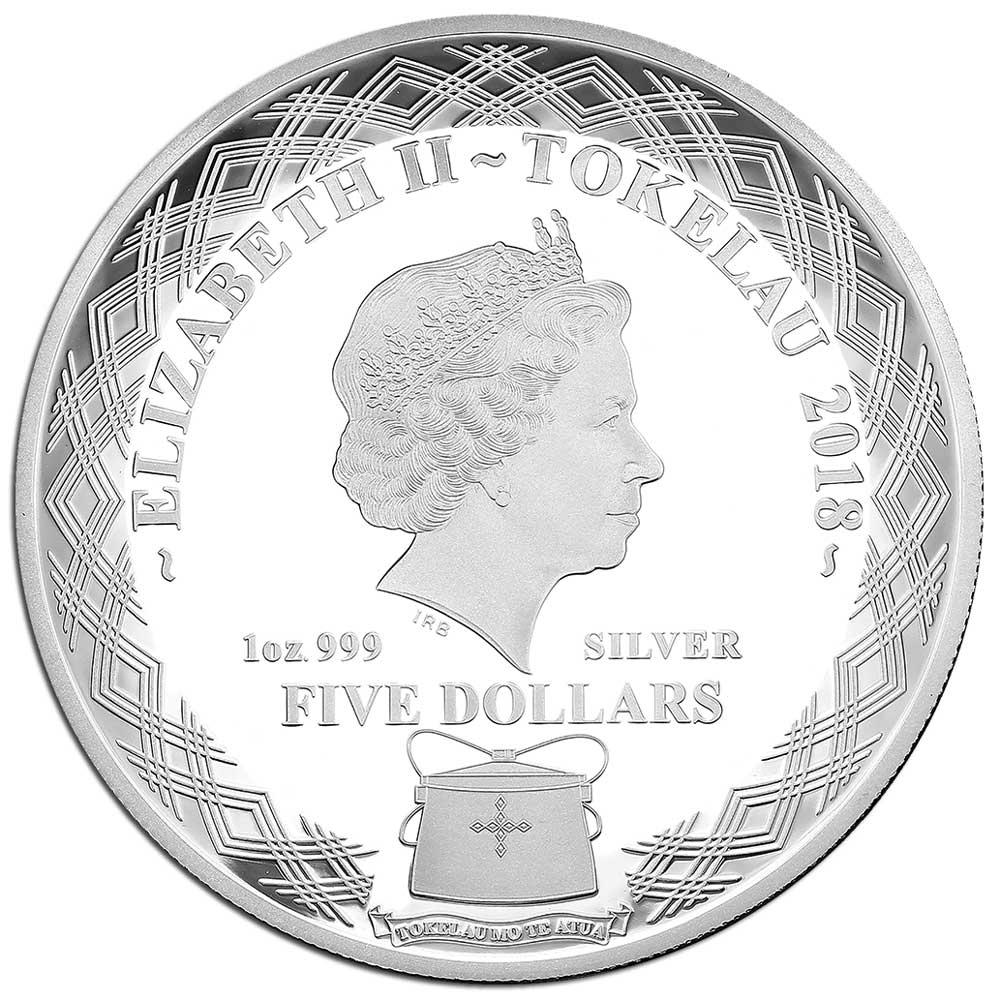 WONDER OF OWLS: SCOPS OWL 2018 Tokelau 1oz silver coin