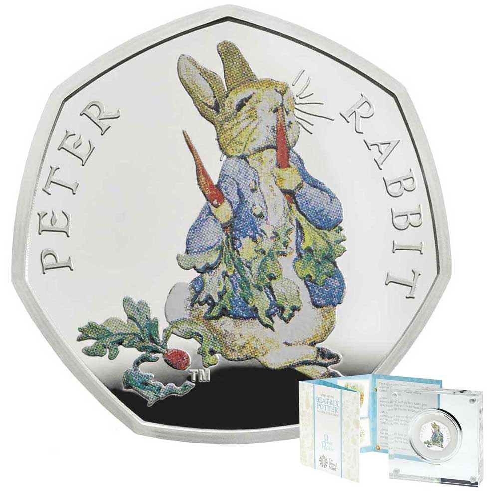 Royal Mint Peter Rabbit™ 2018 UK 50p Silver Proof Coin