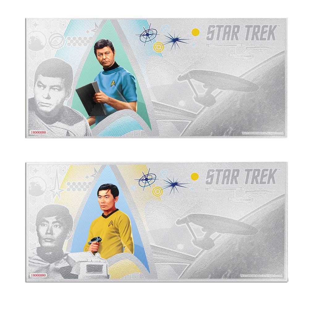 2018 Star Trek Original Series: McCoy & Sulu 5g Silver Notes