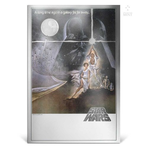 2018 Star Wars: A New Hope Poster - 35g Premium Silver Foil