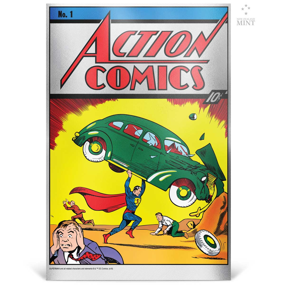 2018 DC Comics Action Comics #1 35g silver foil