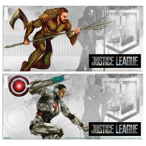 2018 Justice League: Cyborg and Aquaman™ 5g Silver Notes