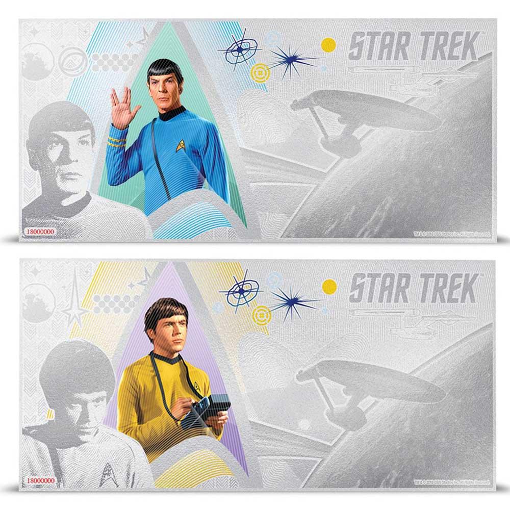 2018 Star Trek Original Series: Spock & Checkov 5g Silver Notes