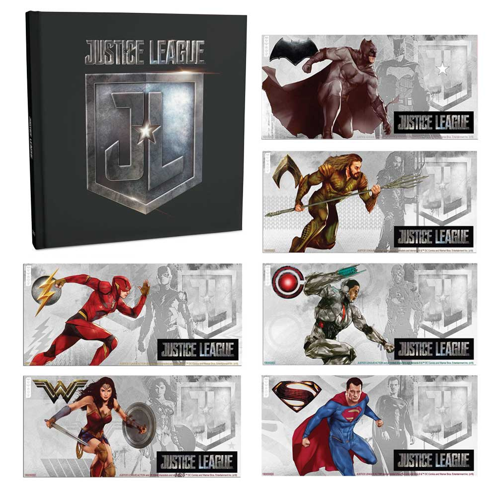 JUSTICE LEAGUE OF AMERICA™ 2018 Niue 5g silver note set