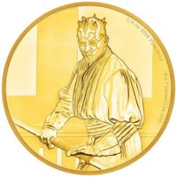 STAR WARS DARTH MAUL 2018 Niue 1/4oz proof gold coin