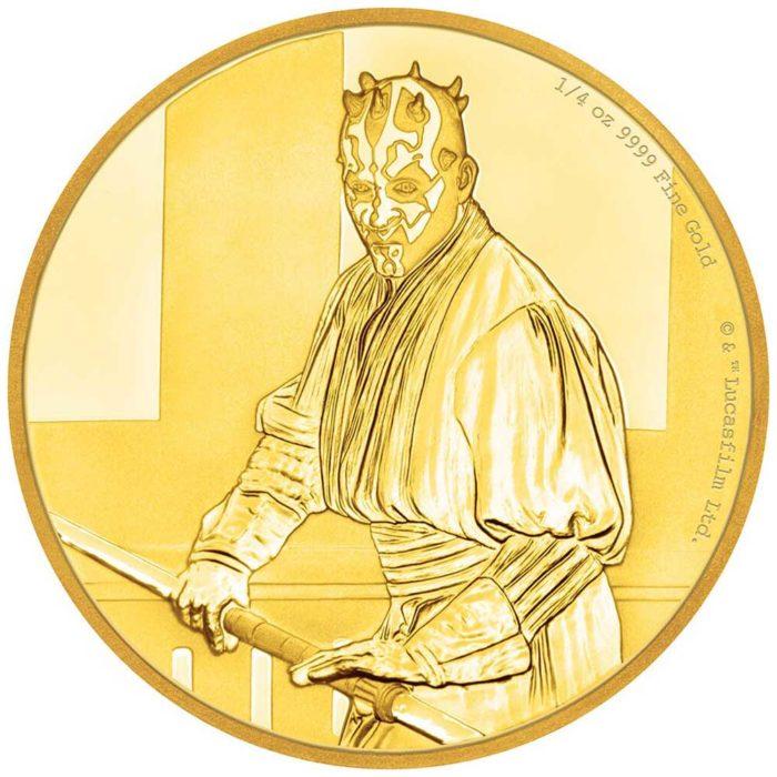 STAR WARS DARTH MAUL 2018 Niue 1/4oz proof gold coin