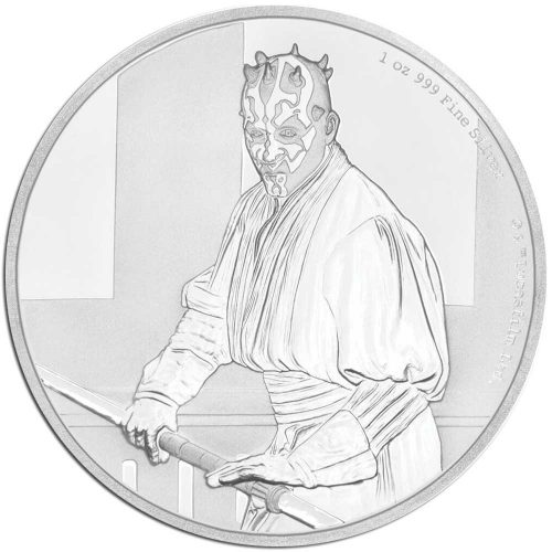 STAR WARS DARTH MAUL 2018 Niue 1oz proof silver coin