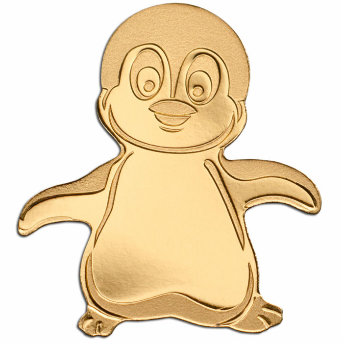 Little Emperor Penguin 2018 Palau 0.5g Gold