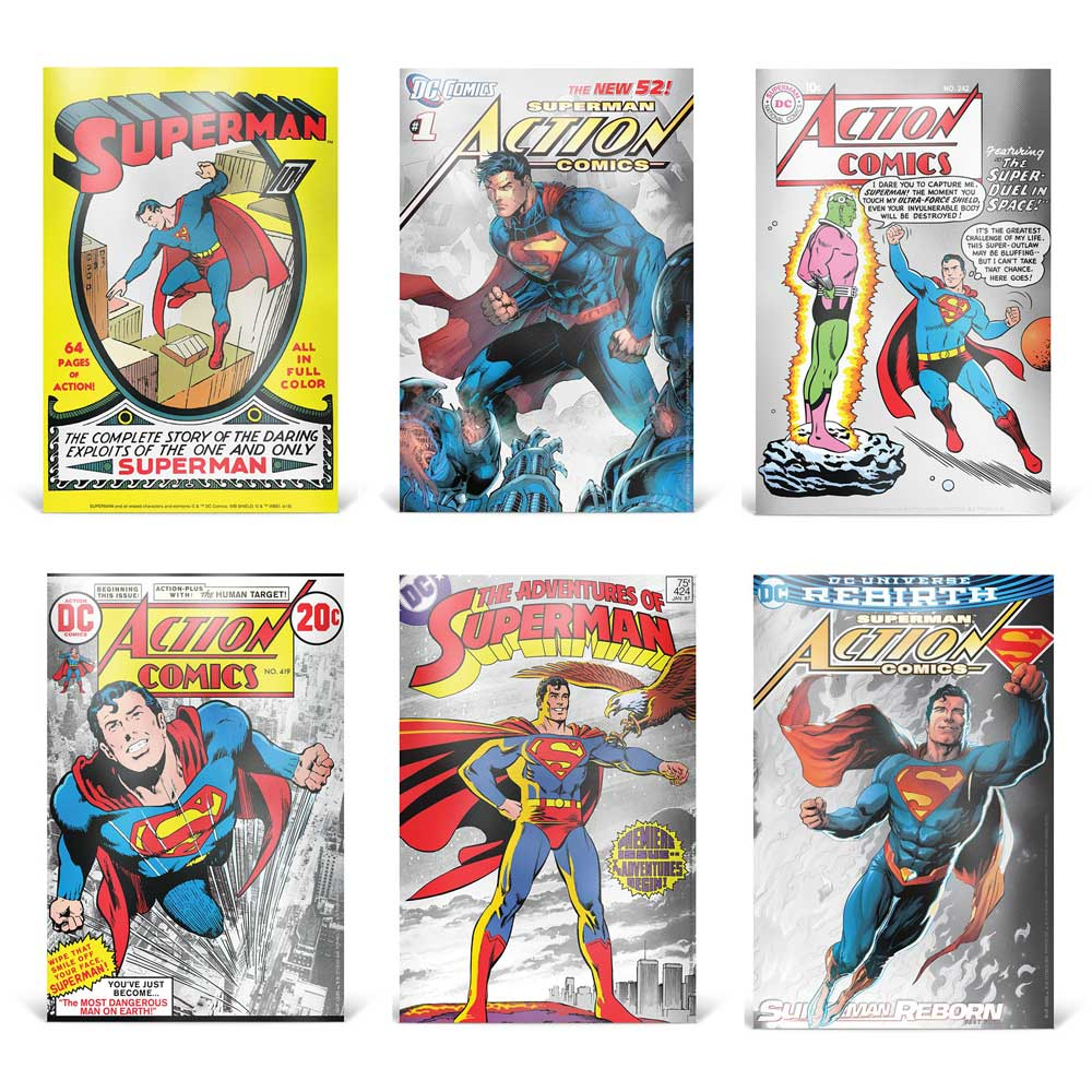 SUPERMAN: 80th ANNIVERSARY 2018 Niue 5g silver note set