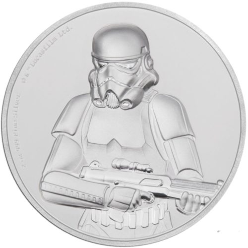 STAR WARS STORMTROOPER 2018 Niue 2oz ultra high releif proof silver coin