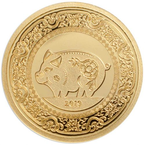 CIT Year of the Pig 2019 Mongolia 0.5g gold proof coin