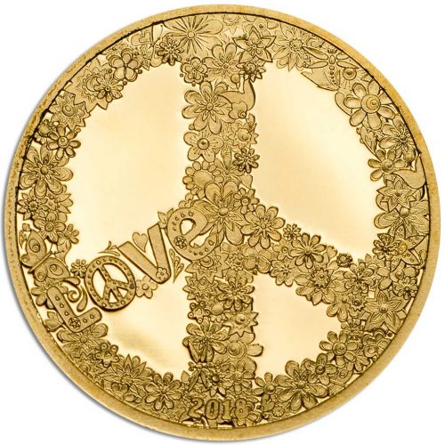 CIT Peace and Love 2018 Palau 0.5g gold proof coin