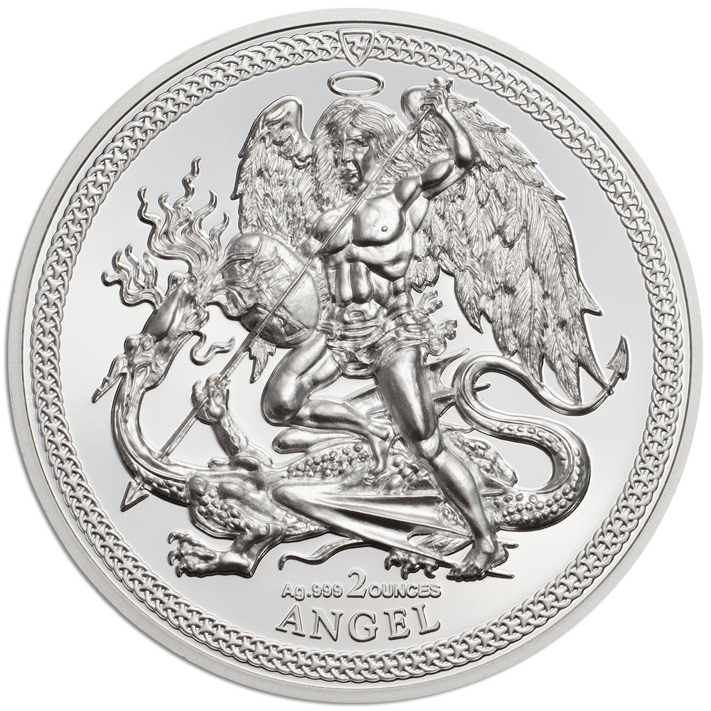 CIT 2018 Isle of Man Angel 2oz silver high relief coin