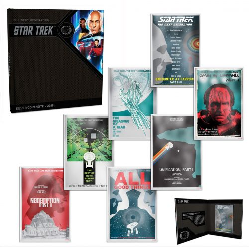 STAR TREK NG: 2018 Juan Ortiz Collector's Album with 7x5g silver note set