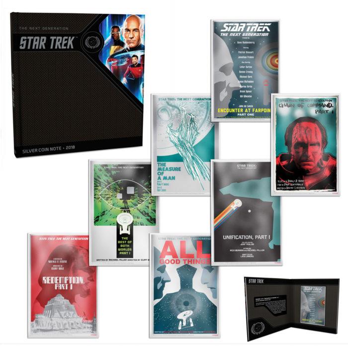 STAR TREK NG: 2018 Juan Ortiz Collector's Album with 7x5g silver note set