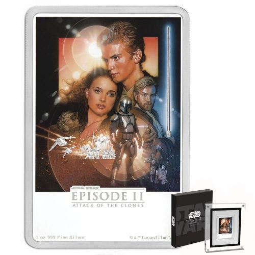 2018 Star Wars Poster Collection - The Attack of the Clones 1oz Silver Coin
