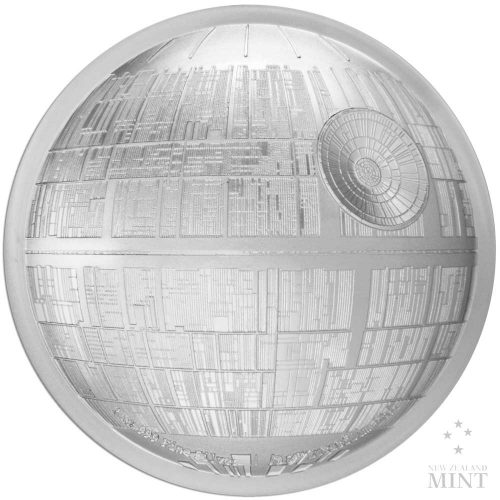 STAR WARS DEATH STAR 2018 Niue 2oz ultra high relief proof silver coin