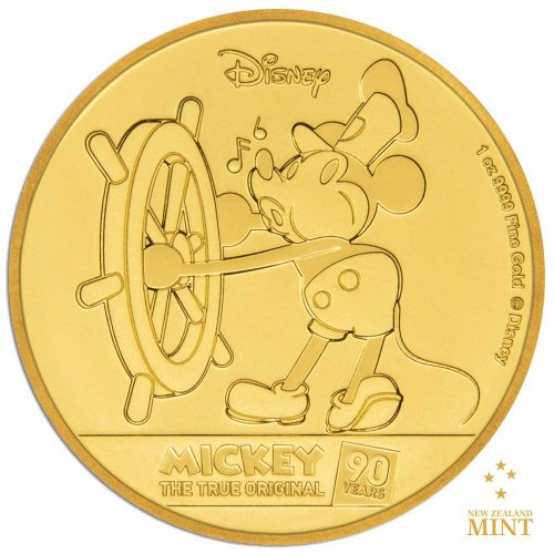 Mickey Mouse 90th Anniversary 2018 Niue 1oz proof gold coin