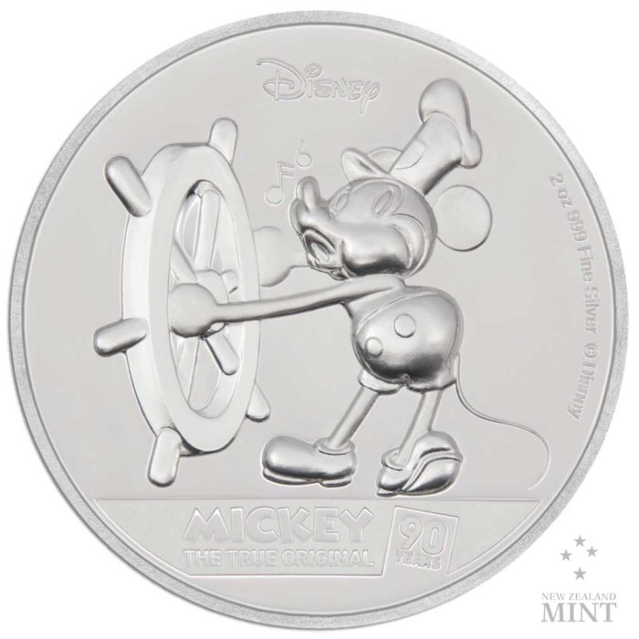 Mickey Mouse 90th Anniversary 2018 Niue 2oz high relief proof silver coin