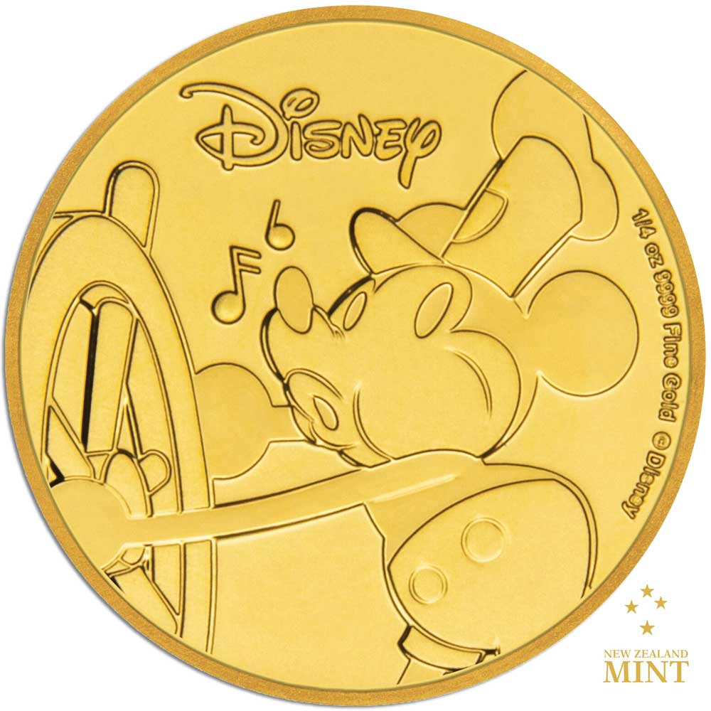Mickey Mouse 90th Anniversary 2018 Niue 1/4oz proof gold coin
