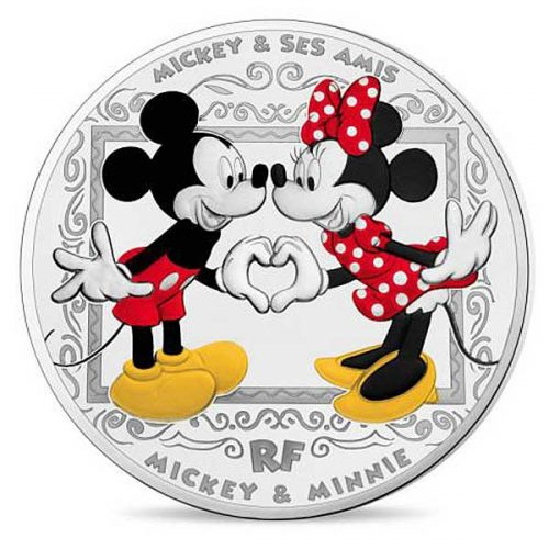 MICKEY & FRIENDS: Mickey & Minnie 2018 France 22.2g €10 silver coin