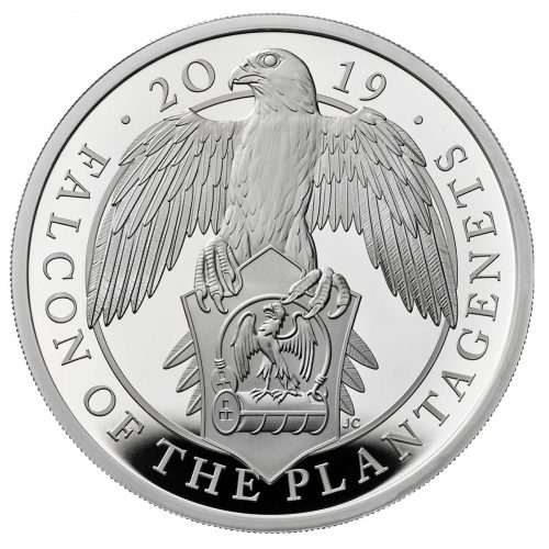 QUEENS BEASTS: FALCON OF THE PLANTAGENETS 2019 United Kingdom 1oz silver coin