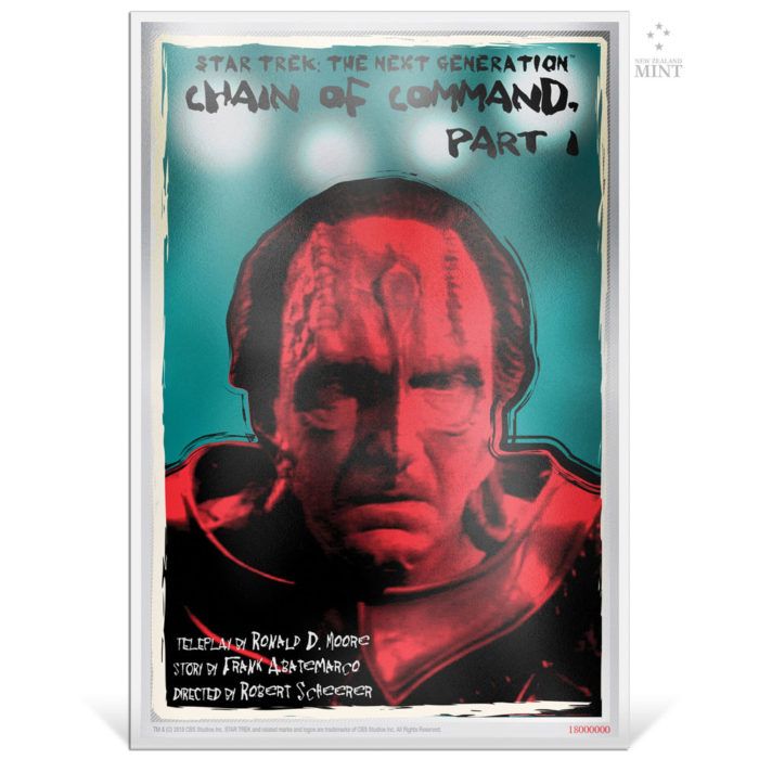 STAR TREK NG: CHAIN OF COMMAND PART 1 2018 Niue 5g silver note