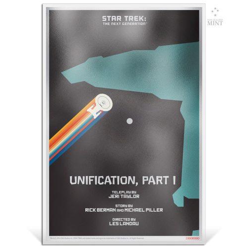 STAR TREK NG: UNIFICATION PART 1 2018 Niue 5g silver note