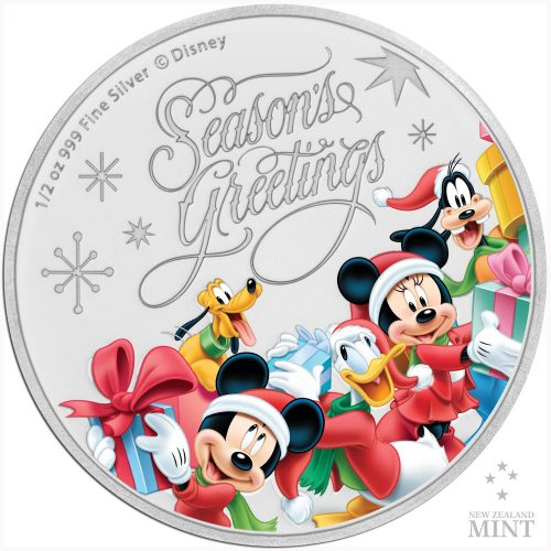 SEASONS GREETINGS 2018 Nuie 1/2 oz silver proof coin