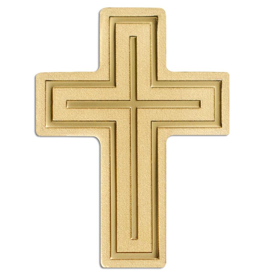 Golden Crucifix 2018 Palau 0.5g minigold proof coin