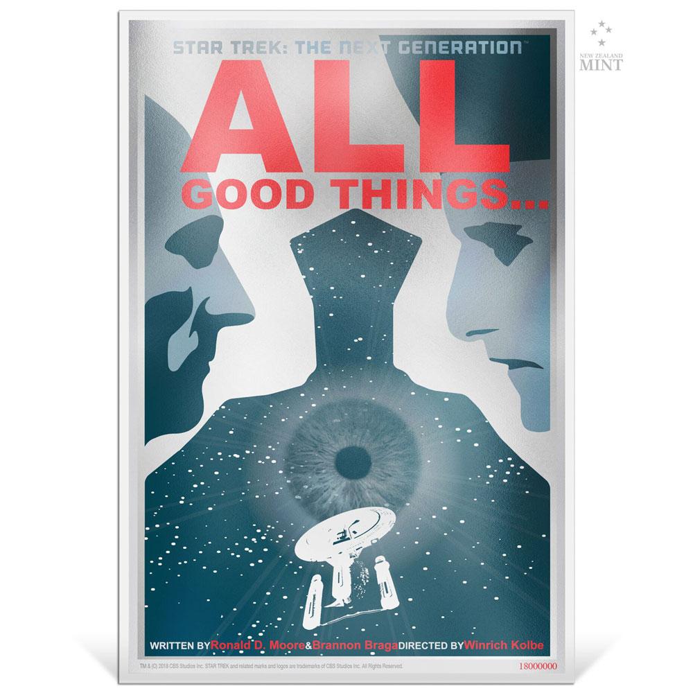 STAR TREK NG: ALL GOOD THINGS... 2018 Niue 5g silver note