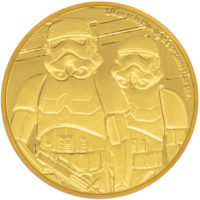 STAR WARS CLASSIC: STORMTROOPER 2019 Niue 1/4oz proof gold