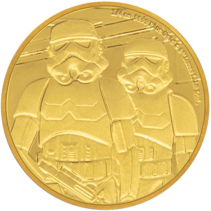 STAR WARS CLASSIC: STORMTROOPER 2019 Niue 1/4oz proof gold
