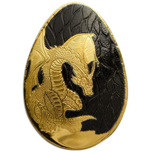 CIT Golden Dragon Egg Palau 0.5g minigold proof coin