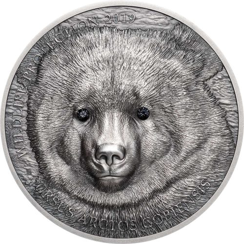 WILDLIFE PROTECTION: GOBI BEAR 2019 Mongolia 1oz silver coin