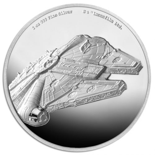 STAR WARS: MILLENNIUM FALCON 2019 Niue 2oz ultra high relief silver coin
